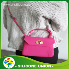 Safety low price women's silicone shoulder bag