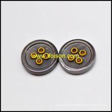 Botão de Shell Rio de cor de esmalte com ilhós
