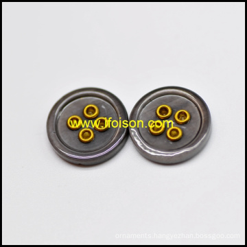 Enamel Color River Shell Button with Eyelet