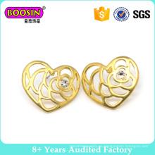 Pendiente plateado oro de la manera del corazón de la nueva llegada de la fábrica