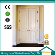 Puerta de seguridad de madera MDF / HDF con imprimación de acero blanco (WHB04)