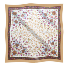 Для Весеннего сезона Цветы Дизайн Печатный шелковый платок