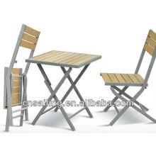 Heißer Verkauf im Freien All Weather billig Holz Tisch und Stühle