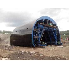 Trole hidráulico do forro do túnel para o túnel da estrada