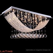 Lámpara colgante moderna de cristal de baccarat LED 92015