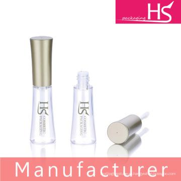 Изящный прозрачный корпус с алюминиевым верхним чехлом для помады для губ с кисточкой