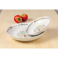 Porcelana la etiqueta sopa plato 20cm ensaladera