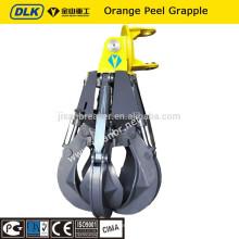 garra de sucata para escavadeira / com garra mecânica / hidráulica garra de laranja para peeling rotacional