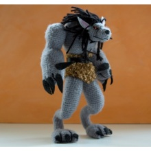 Wow Warcraft Plush Stuffed Hand Made crohet brinquedo de malha de boneca