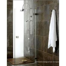 Vanne de douche thermostatique exposée et kit rail rigide rigide avec combiné et flexible + tête