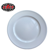 Solid White Plastic Charger Plate