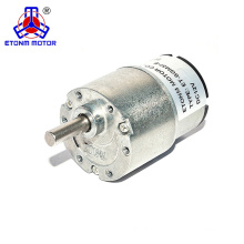 24v dc motors with gear head 37mm diameter and low speed 1rpm, 3rpm, 4rpm