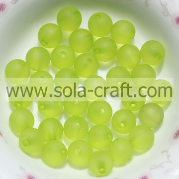 Top Selling Matte Imitation Acrylic Fluorescence Green 8MM Beads Wholesale Gumball Beads