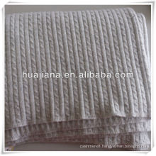 Top grade cable knits 100% cashmere blanket