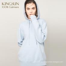 Polo Pullover mit Kapuze, 100% Cashmere Pullover für Mädchen, Großhandel Hoodies für Frauen