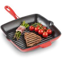 Квадратная эмалированная чугунная сковорода / сковорода / стейк