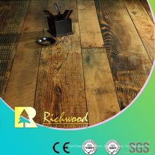 Household 12.3mm E1 HDF AC4 Embossed Oak V-Grooved Laminate Floor