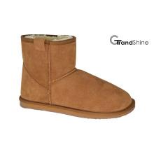 Мини-ботинки из классической замши для женщин