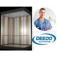 Segurança sem elevador do elevador do Hospita do cama do paciente do ruído