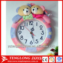 New design practical creative plush wall clock for sale