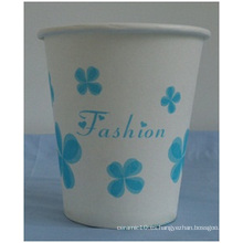 Taza de papel desechable de flores azules / 7 oz Tazas de papel