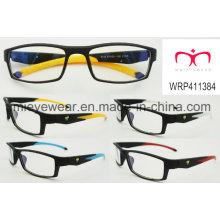 Lunettes de vue en caoutchouc pour lunettes en plastique de nouvelle mode (WRP411384)