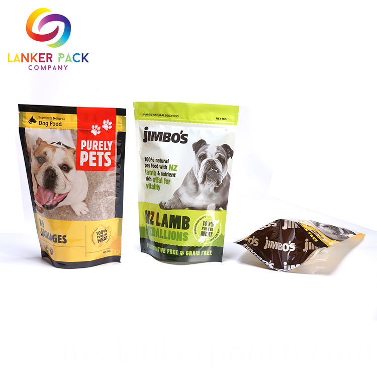 BRC Standard Printed Doypack Pet Food Pouch Bag