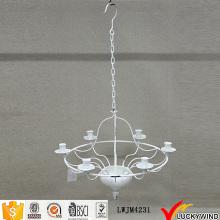 Techo de suspensión blanco candelabro de la vendimia titular