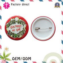 Insigne personnalisé Logo Tin Button pour cadeau de mariage