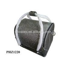 bolso cosmético de la piel venta caliente con 4 bandejas extraíbles dentro de buena calidad