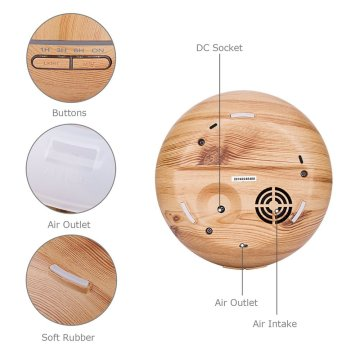 400ml Wood Grain Base Aromatherapy Air Humidifier