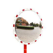 KL Round Convex Mirror With Reflective Tape Diamond Reflection Plastic Mirror, Warning Mirror/