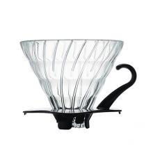Tiroir à café en verre avec base en plastique noir