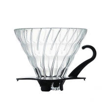 Glass Coffee Dripper With Black Plastic Base