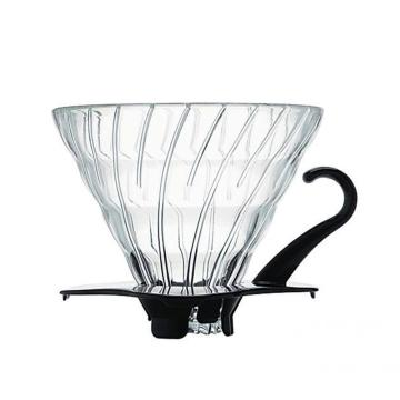 Coffeeware Glass Coffee Dripper mit schwarzem Kunststoffboden