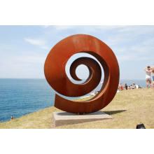 art sculpture extérieur parc à thème jardin corten acier sculpture