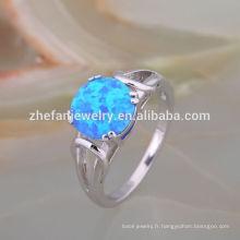 Belles conceptions d'anneau d'opale de diamant de coupe ovale pour les femmes, meilleur cadeau de mariage