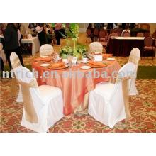 couverture de chaise de polyester 100 %, couverture de chaise de banquet, couverture de chaise d'hôtel