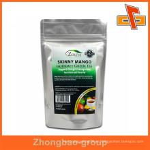 China fábrica de prueba de humedad al por mayor grado alimenticio impreso cremallera superior personalizado impreso bolsas de aluminio