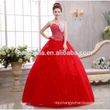 Cinderella dress organza ball gown Wedding Dresses 2017 Sleeveless puffy dress robe de mariage red wedding gowns