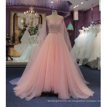 Prinzessin heißes Verkaufs-preiswertes rosafarbenes Hochzeits-Kleid