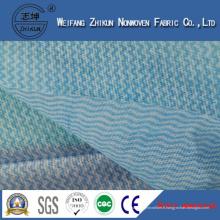 Tissu non-tissé bleu de Spunlace au sujet du nettoyage de cuisine