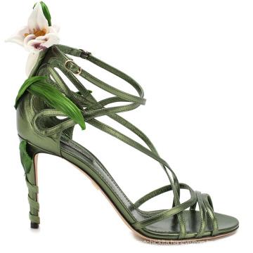 Open Peep Toe Stilettos Casual White Ladies High Heel Sandals for Wedding