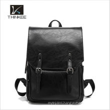 Wholesale high quality girls black real Italian leather women backpack bags