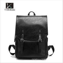 Оптовая высокое качество девушки черный натуральная итальянская кожа женщины рюкзак сумки