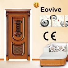 Venta caliente tallados diseños de puerta de madera sólida