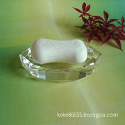 crystal soap plate