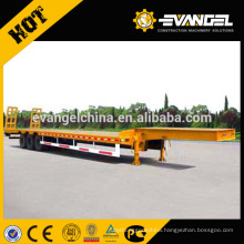 CIMC hydraulic low bed semi trailer with 3 axle semi trailer
