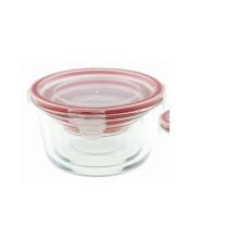 Recipiente de ensalada de vidrio de 0,15 l con tapa