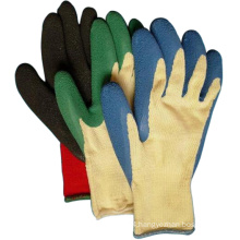 Knited Cotton Latex Coated Gloves Safety Farm Work Glove